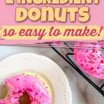 two ingredient baked donut pinterest pin