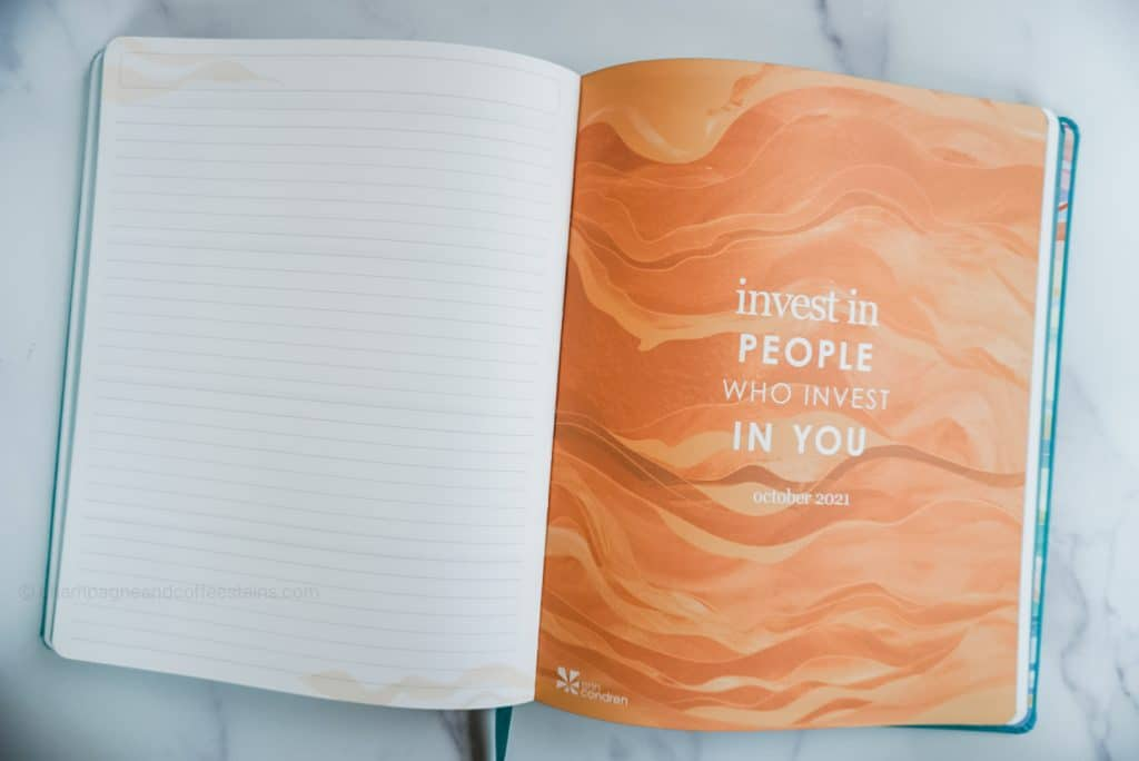 orange page that says invest in people who invest in you