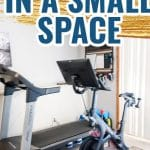 HOW TO MAKE THE ULTIMATE PELOTON GYM IN A SMALL SPACE PINTEREST PIN