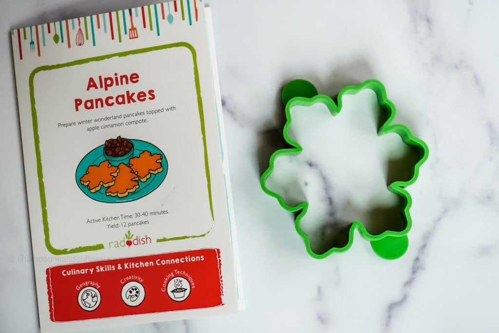alpine pancakes recipe card and pancake mold