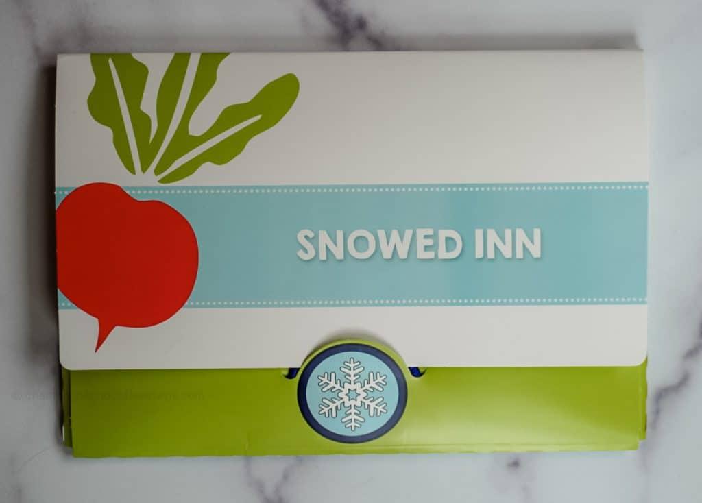 outside snowed inn envelope