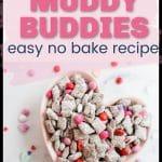 valentine's day muddy buddies pinterest pin