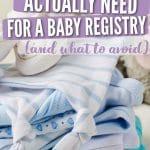 baby registry essentials pinterest pin