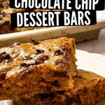 banana chocolate chip bars pinterest pin