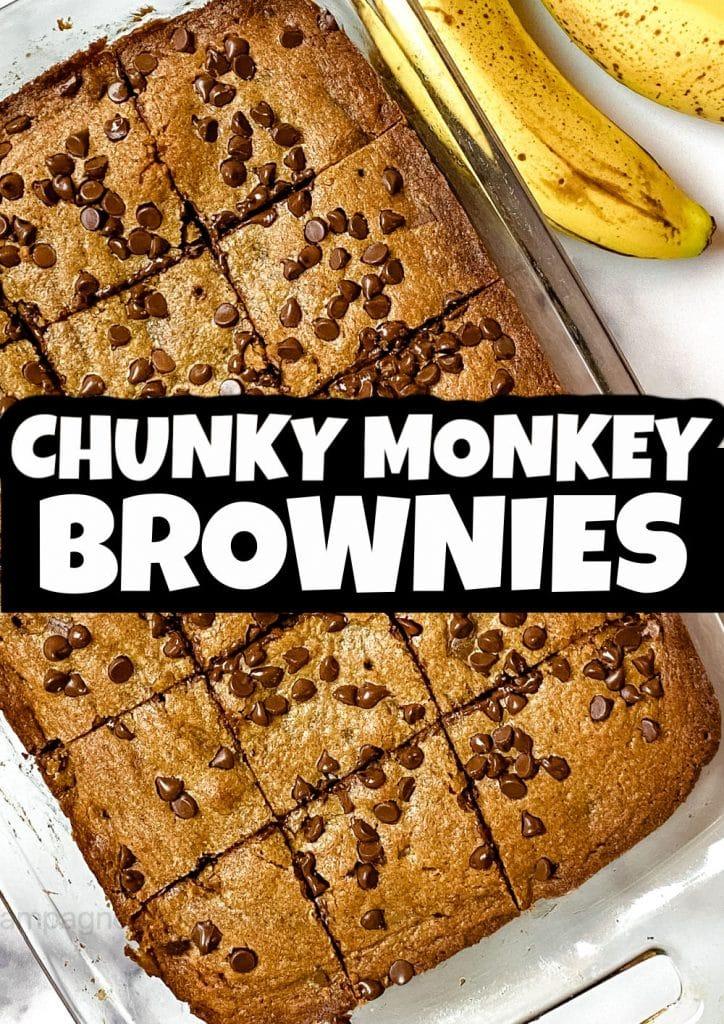 chunky monkey brownie recipe pinterest pin
