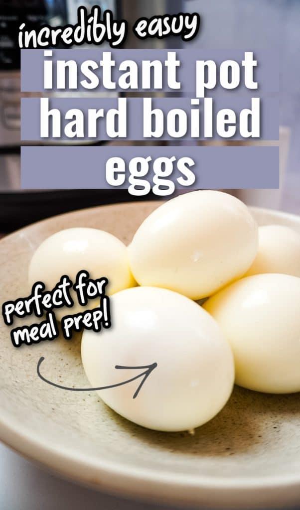 instant pot hard boiled eggs pinterest pin