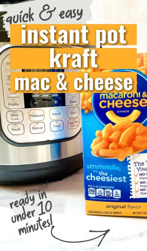 instant pot kraft macaroni and cheese pinterest pin