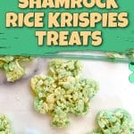 shamrock rice krispies treat pinterest pin