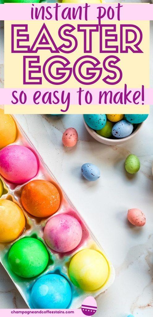 instant pot easter eggs pinterest pin
