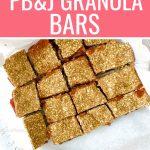 PB&J granola bar pinterest pin