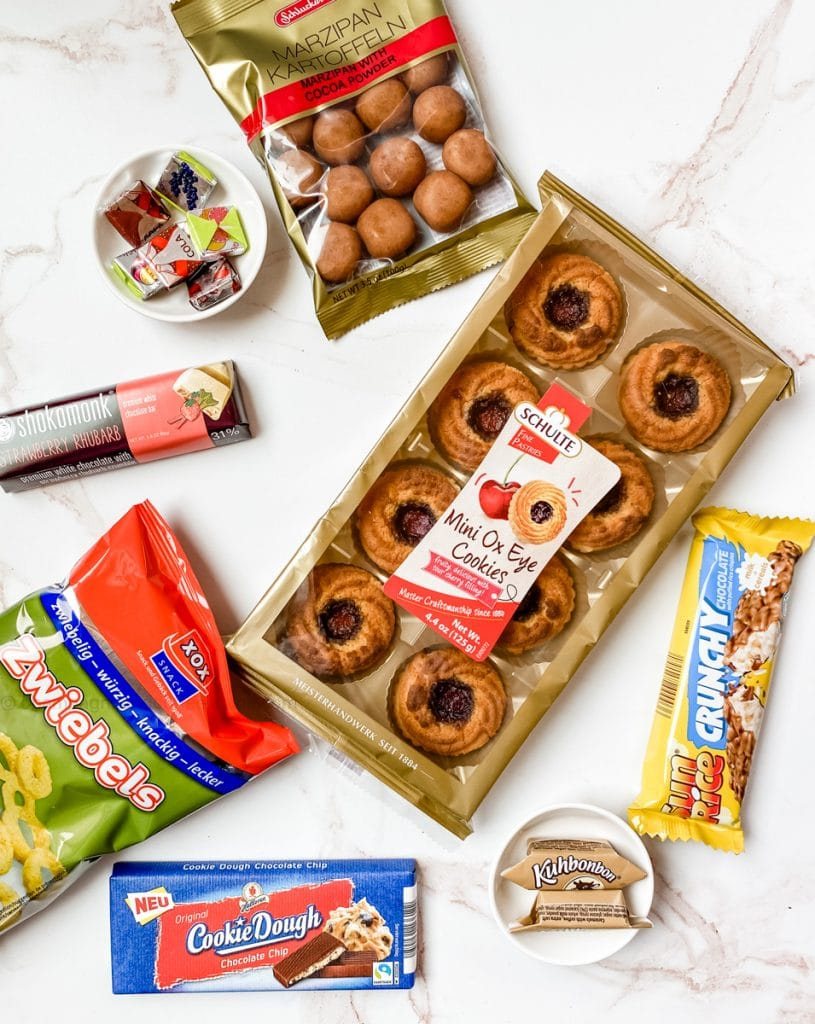 cherry cookies, cookie dough bar, crunchy rice bar
