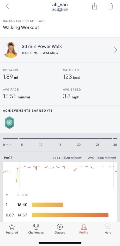 peloton workout details