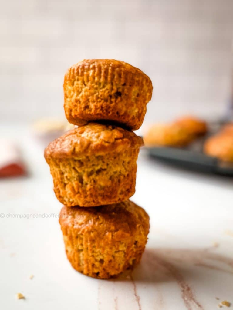 3 muffins in a stack