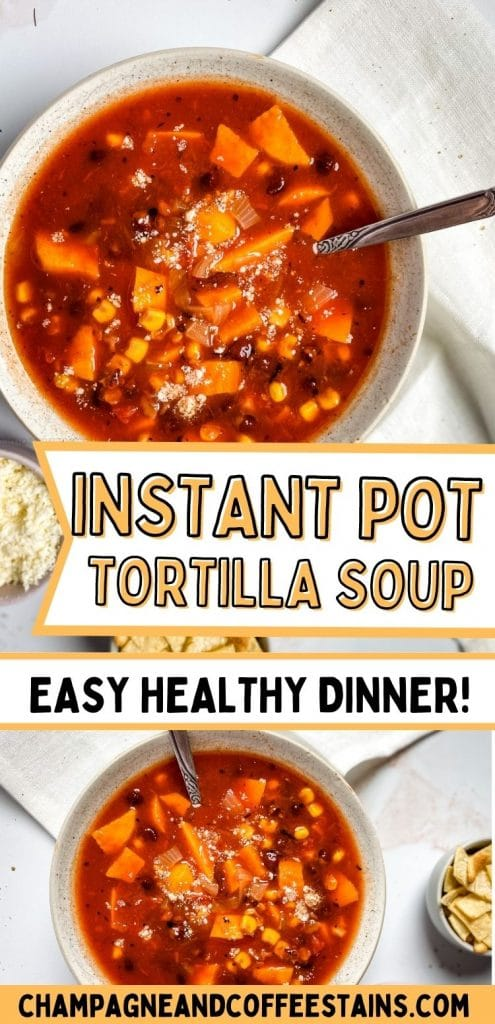 instant pot tortilla soup pinterest pin