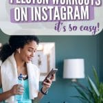 how to share peloton workouts on instagram pinterest pin
