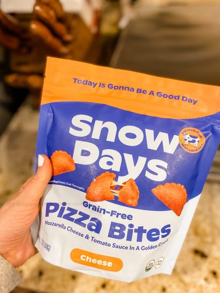 a bag of snow days pizza bites