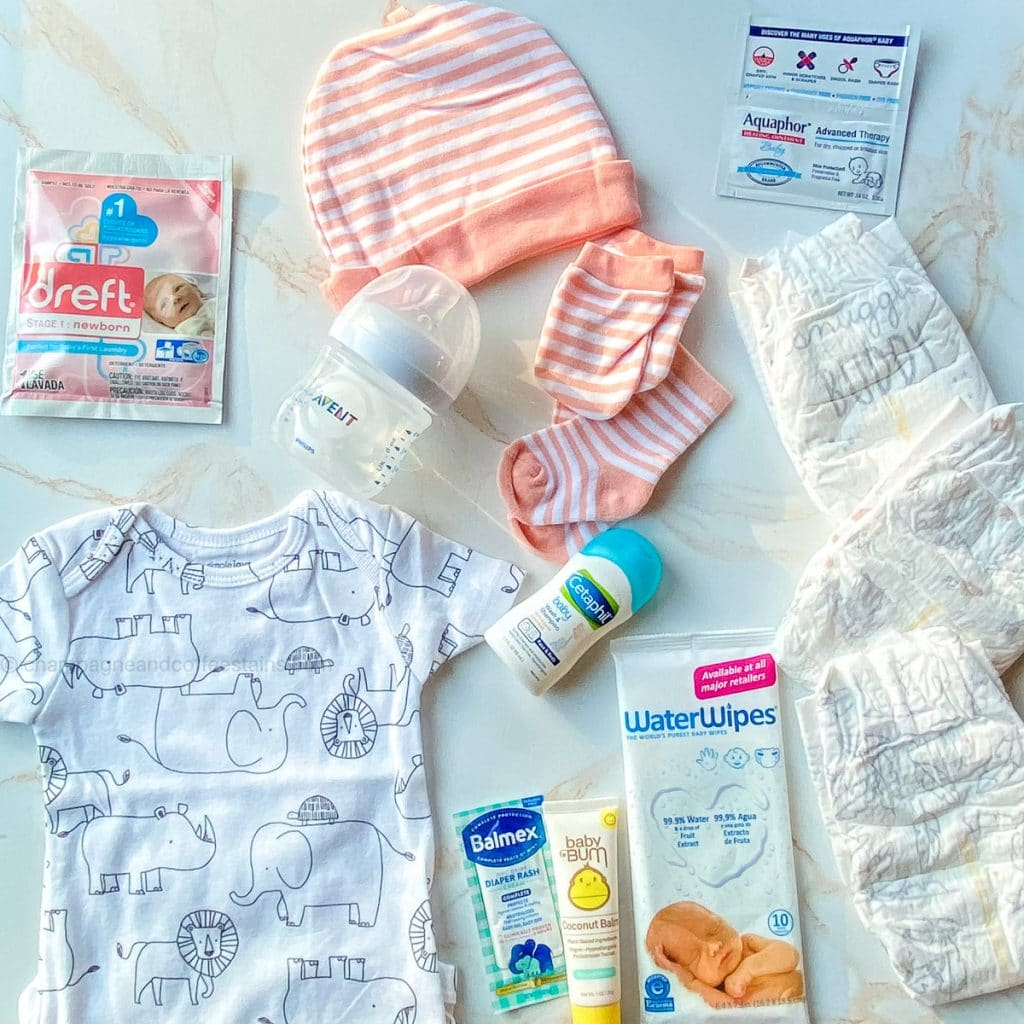 inside the amazon baby registry welcome bag