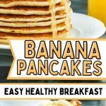 banana pancakes pinterest pin