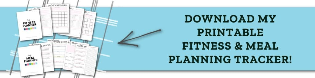 printable fitness and meal planner tracker