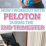 working out with peloton during second trimester pinterest image
