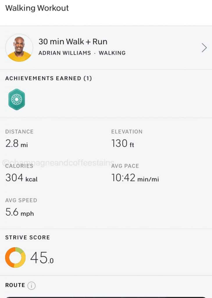 finished peloton outdoor run with metrics