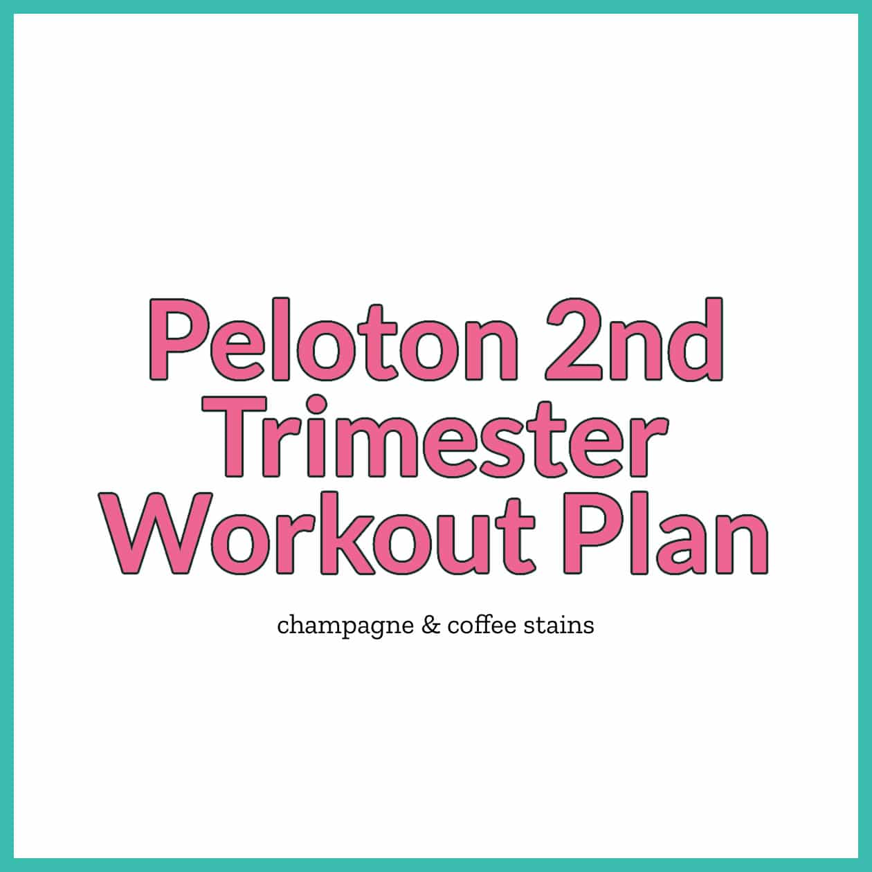 peloton 2nd trimester workout blog image