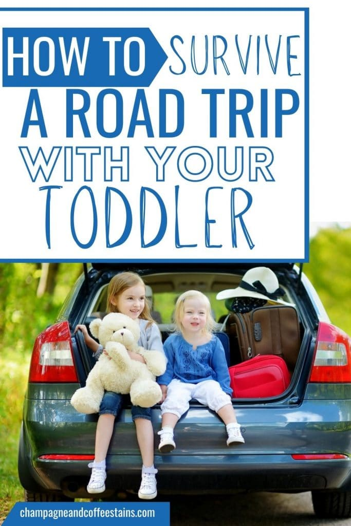 how to survive a road trip with a toddler pinterest pin