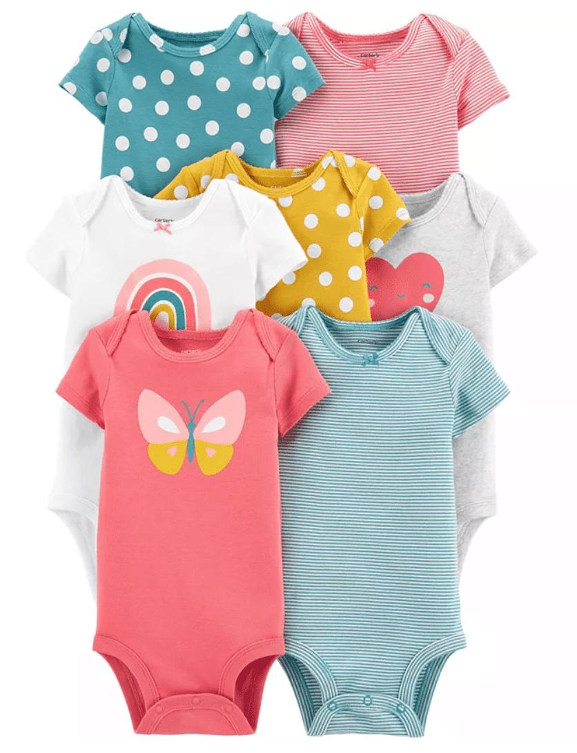 Carter's Baby Girls 7-Pk. Cotton Printed Bodysuits