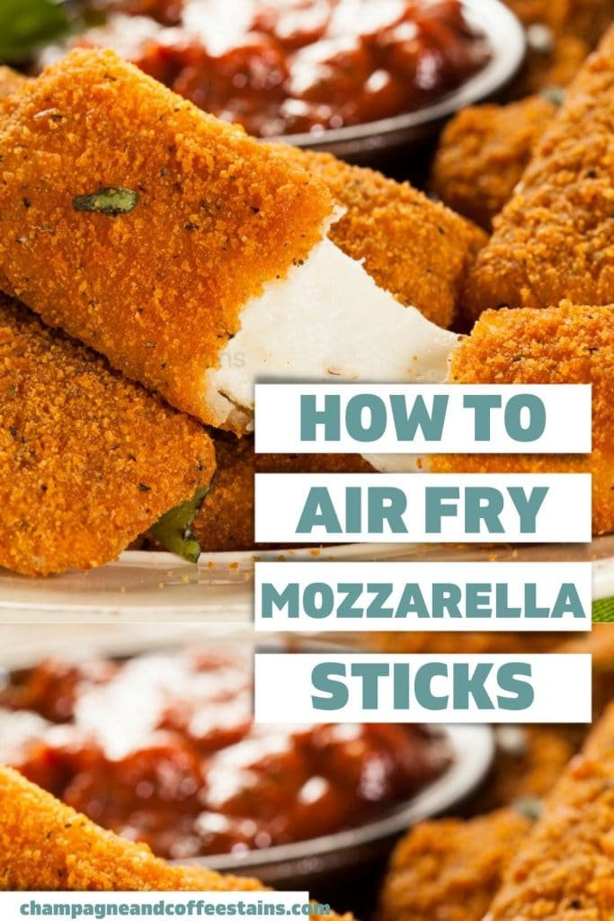 air fry frozen mozzarella sticks pinterest pin