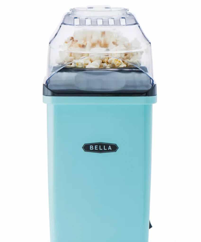 blue popcorn maker