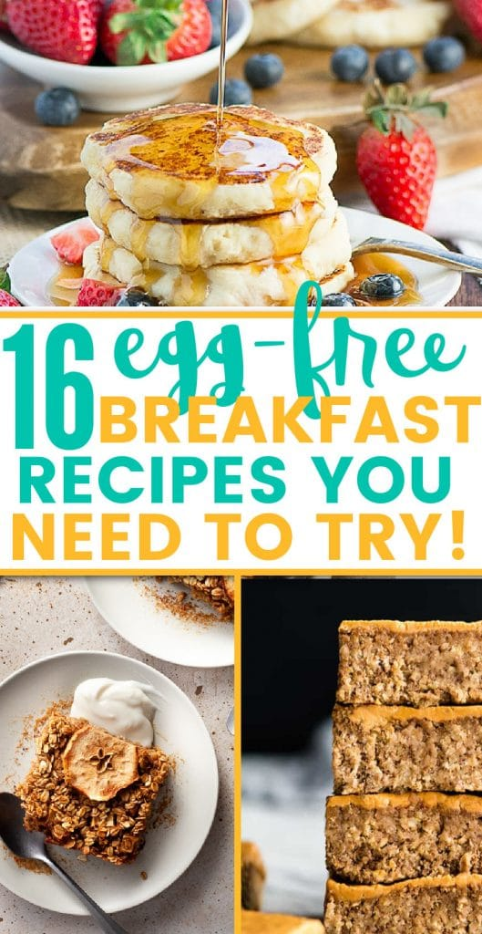 16 egg free breakfast ideas to try pinterest pin