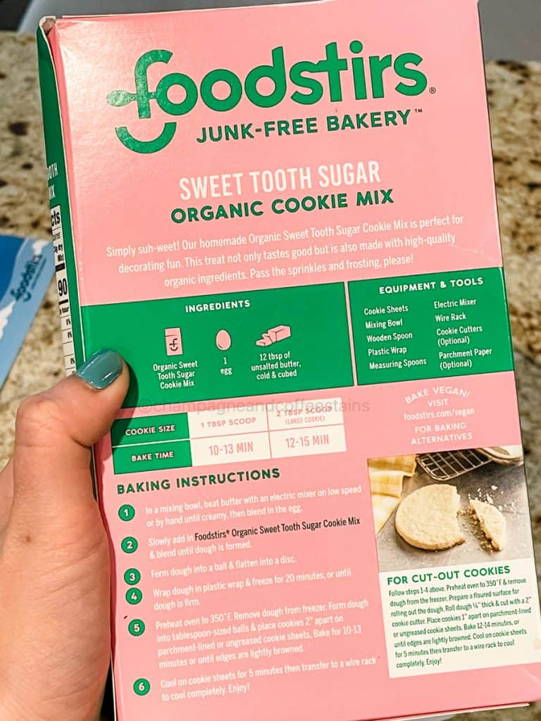 back of the cookie mix