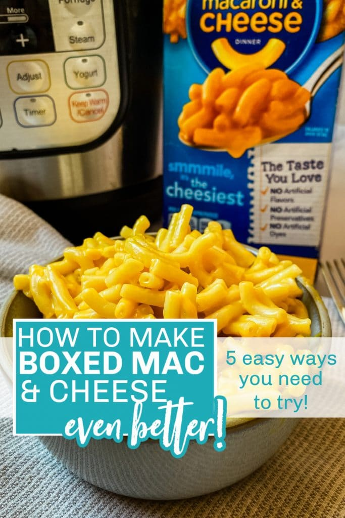 how to make boxed mac and cheese better pinterest pin
