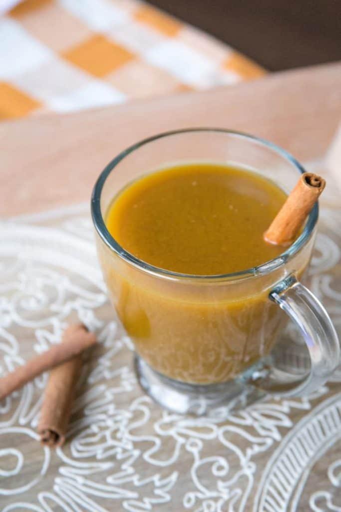 pumpkin cider in a cup