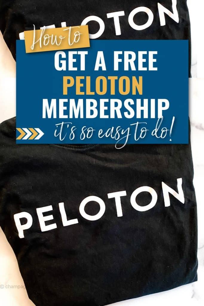 free peloton membership pinterest pin