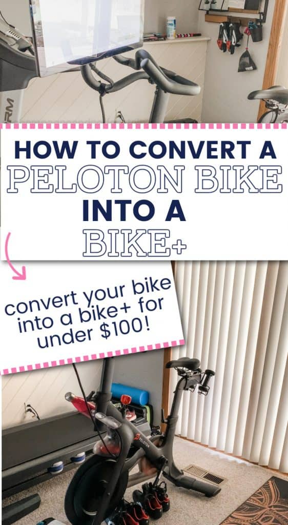 make peloton bike into bike plus pinterest pin