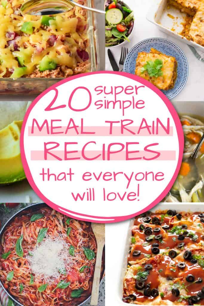 meal train recipe and guide pinterest pin