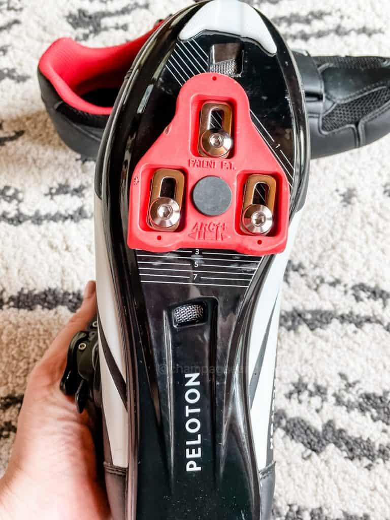 bottom of peloton bike shoes