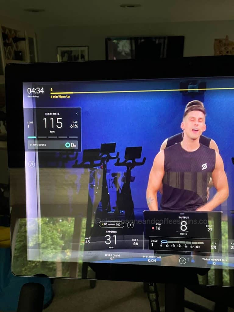 screen with heart rate on it